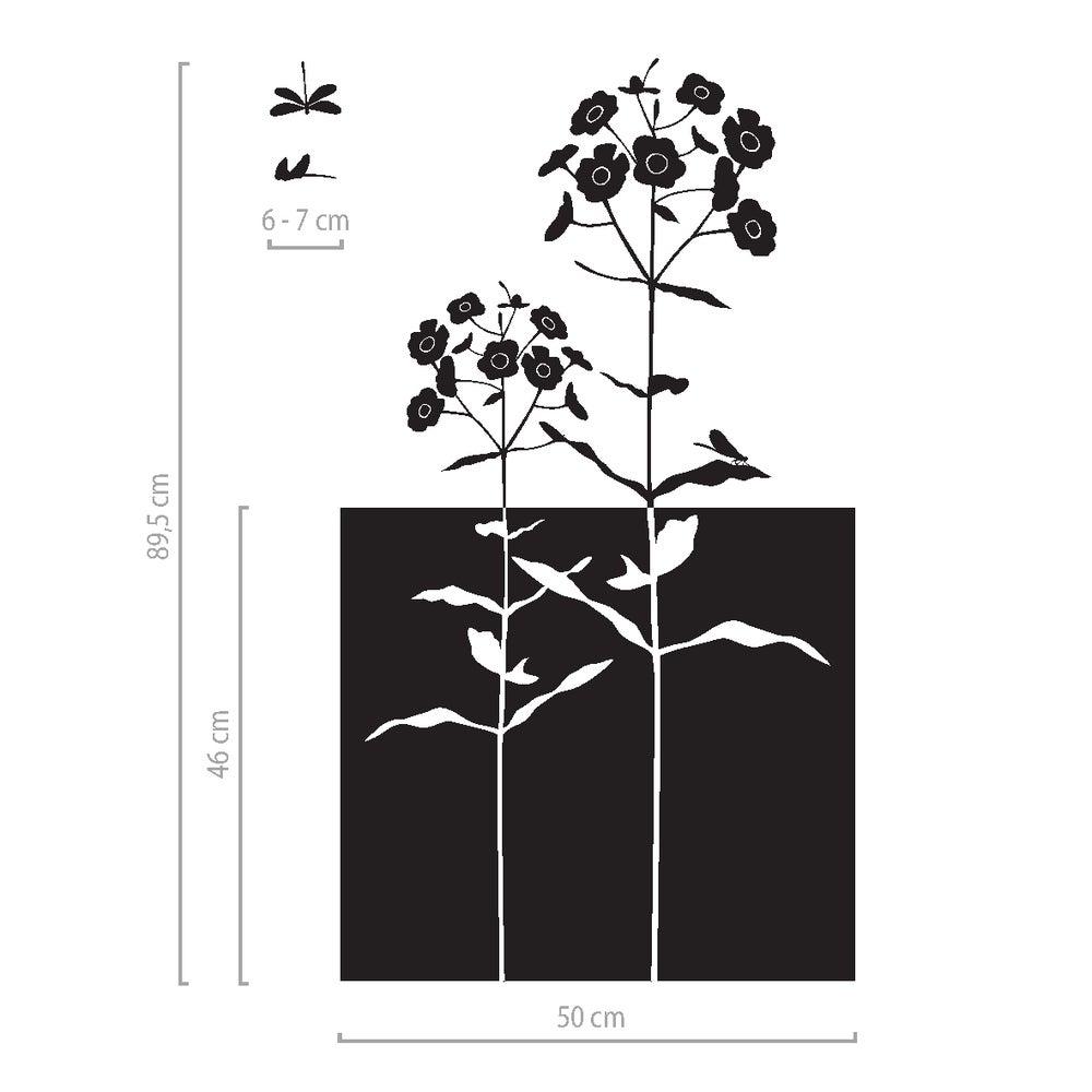 Image of Dekorativer Sichtschutz mit Blumen, Fenster Klebefolie floral