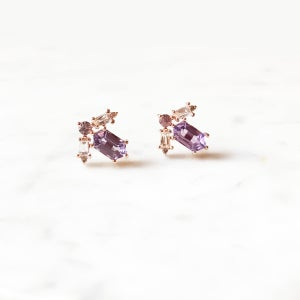 Image of Emma Deco Amethyst Earring
