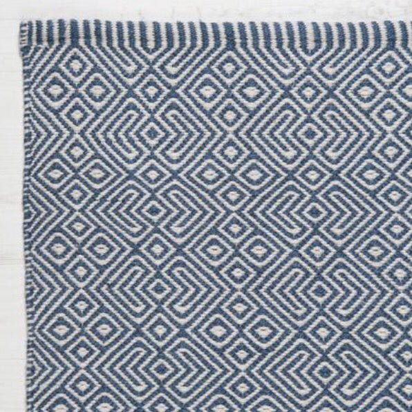 Image of Provence Rug in Navy Blue
