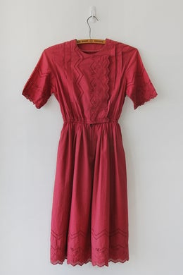 Image of SOLD Embroidery and Eyelet Birthday Dress