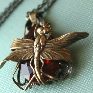 Image of First Flight Dragonfly Necklace