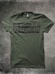 Image of Gov't logo camo green tee