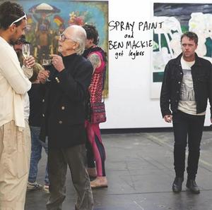 "Image of SPRAY PAINT + BEN MACKIE - ""Friendly Moving Man"" b/w ""Dumpster Buddies"" 7"" (12XU 105-7)"