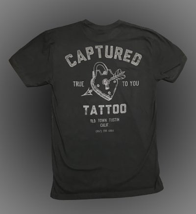 Image of *NEW* Black on Black Captured Tattoo Studio T-Shirt
