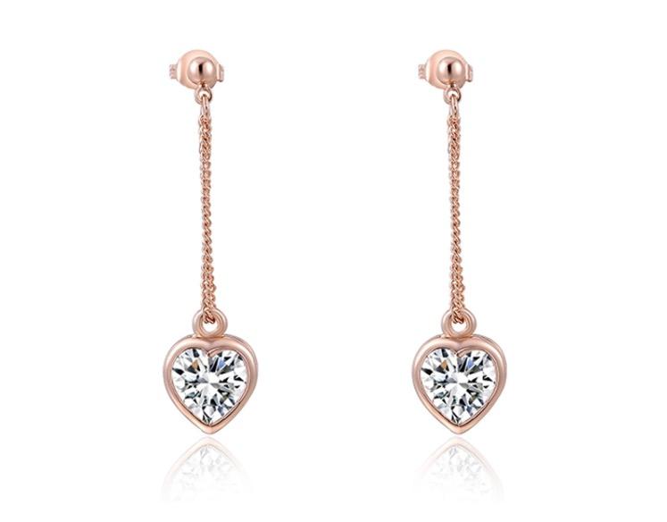 Image of Dangle my heart on a string earrings