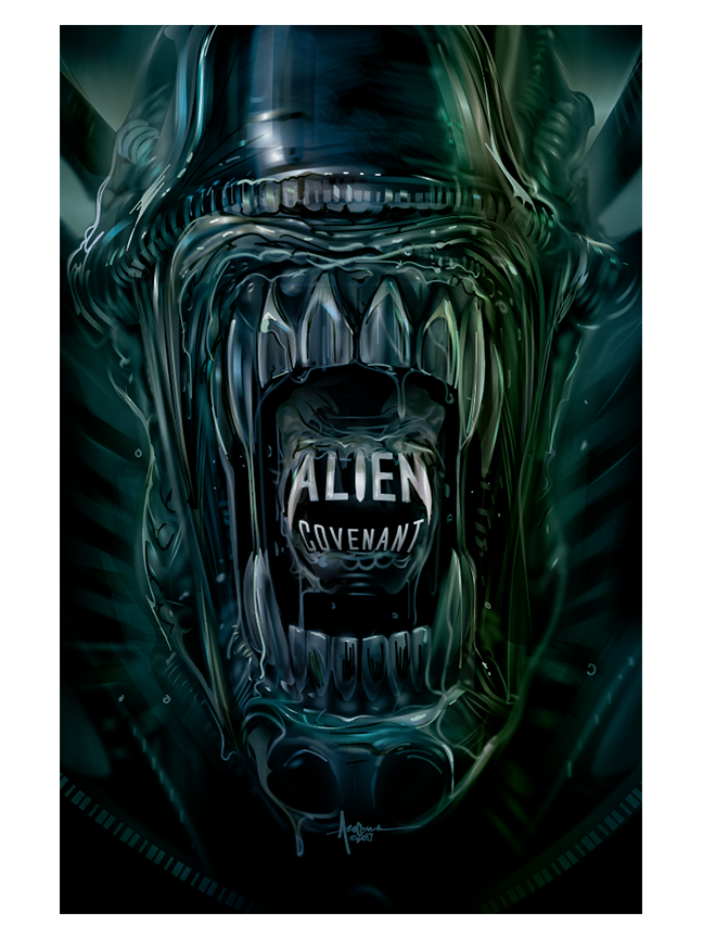 Image of ALIEN COVENANT- 18x24 Edition of 25