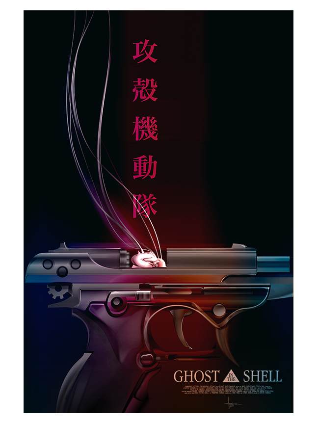 Image of GHOST IN THE SHELL- SEBURO_ 18x24 edtn 25