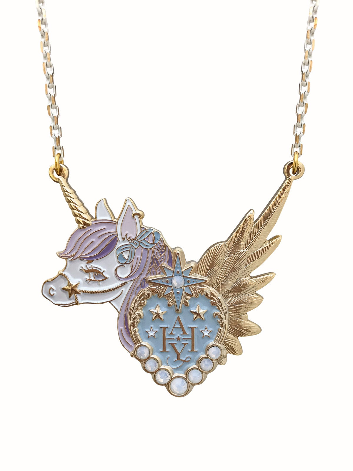 Image of Dreamy Unicorn Necklace · Lavender