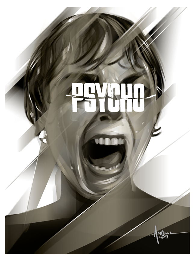 Image of PSYCHO- Hitchcock- 18x24 - Edition 50 - 2017