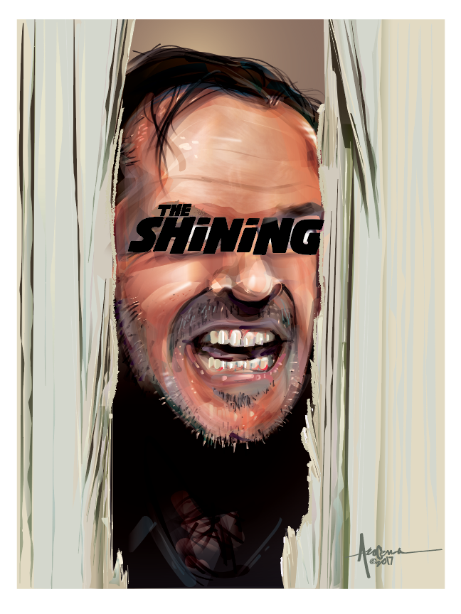 Image of HERE'S JOHNNY- THE SHINING- 18x24 - Edition 50 -2017