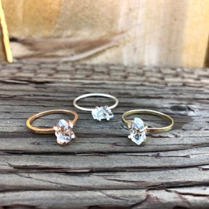 Image of Raw Herkimer Diamond Ring
