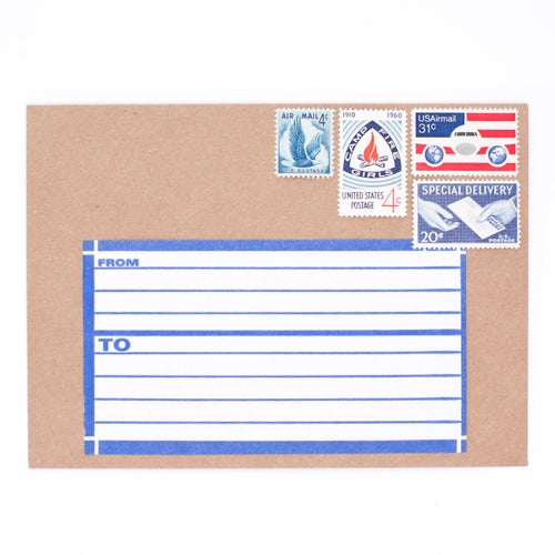 Image of Dennison Blue Address Label Booklet