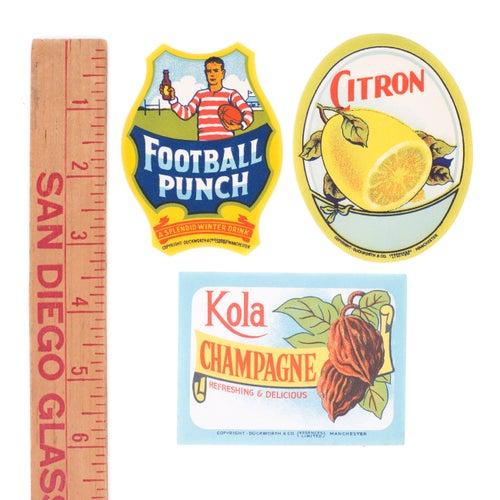 Image of Antique Beverage Labels - Set No. 2