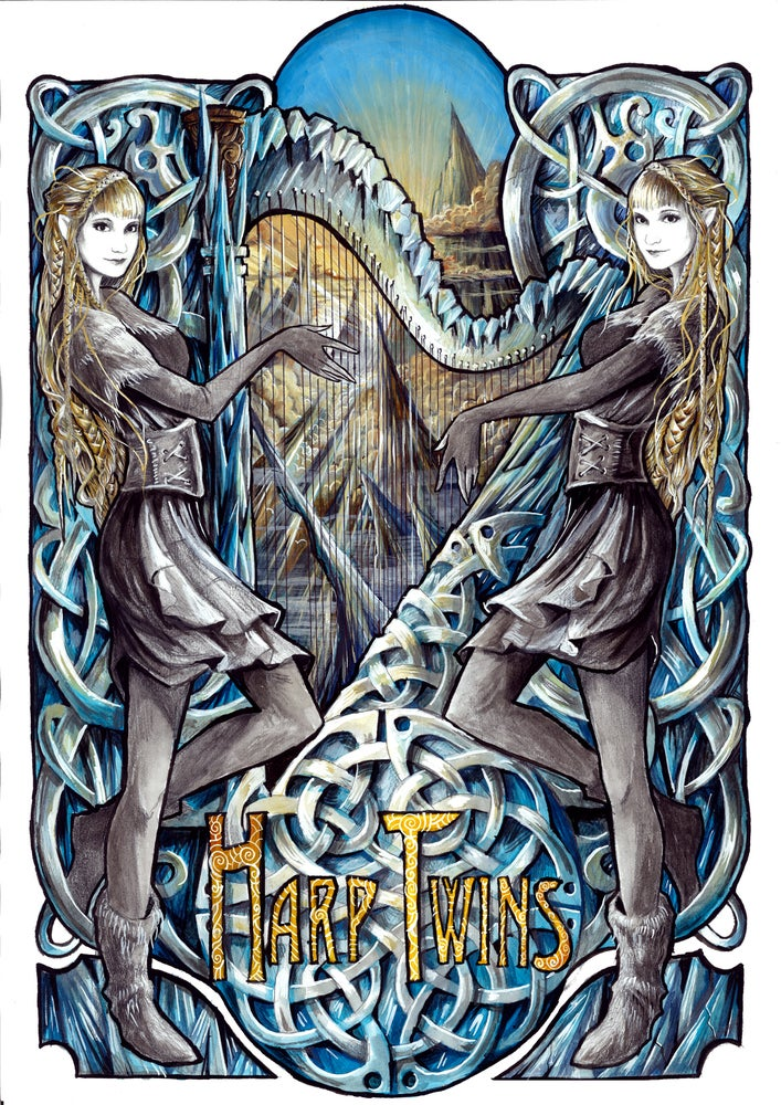 Image of Harp Twins NORTH ARTWORK Poster