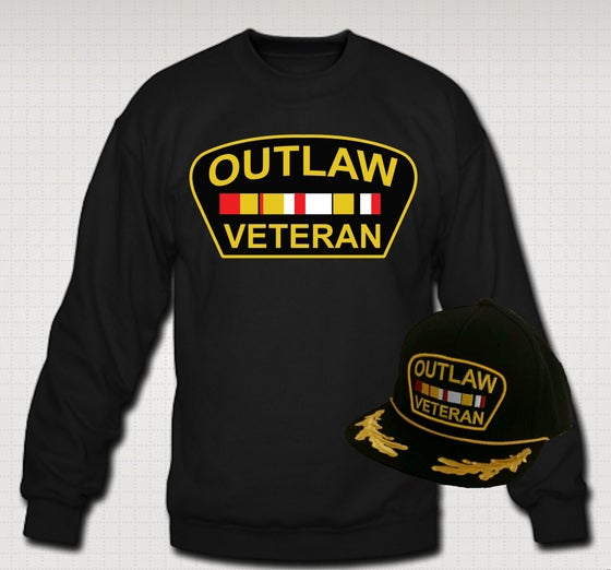 Image of Outlaw Veteran Crewneck & Hat Set