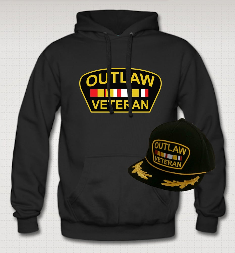 Image of Outlaw Veteran Hoodie & Hat Set