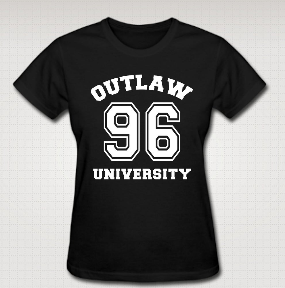 Image of OU 96 Female Baby Tee- Comes in Black, White,Pink,Purple,Red- CLICK HERE TO SEE ALL COLORS