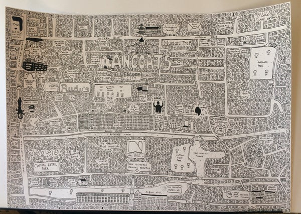 Image of Ancoats Doodle Map