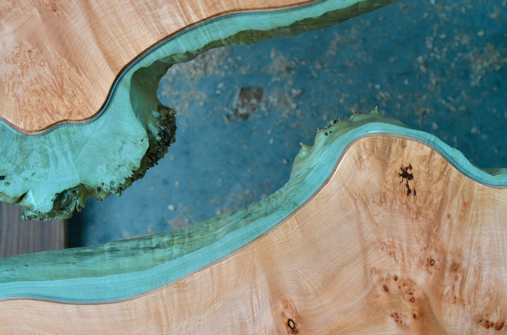 Image of maple + walnut river coffee table