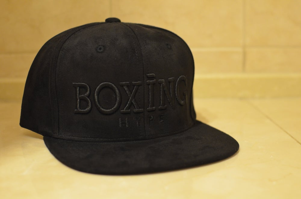 Image of Black on black Suede SnapBacks