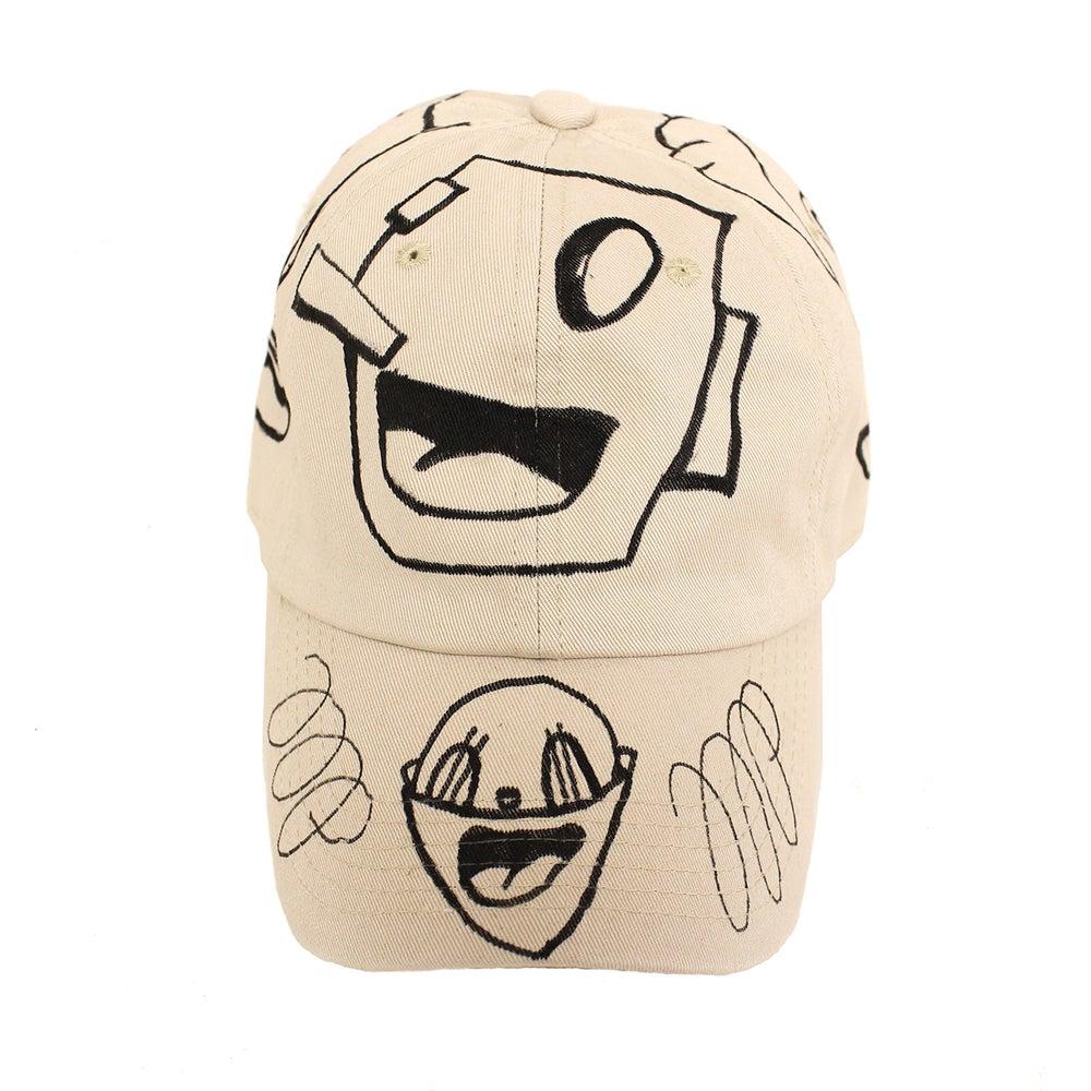 Image of Beige FFP Hand Drawn Hat 04