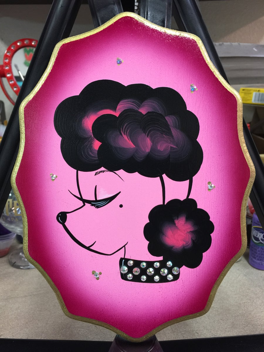 Image of Pinky Sassy Poodle Plaque