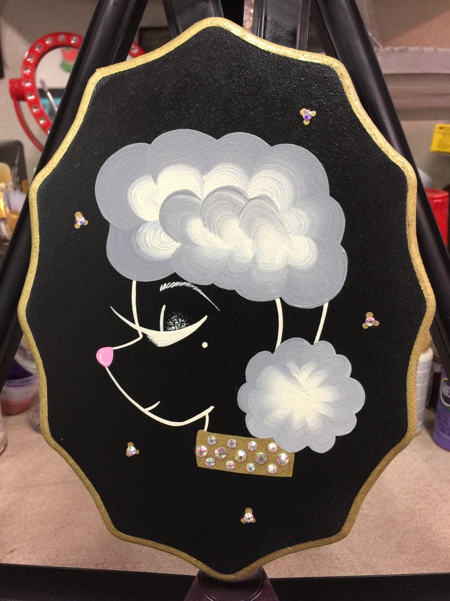 Image of Black Sassy Poodle Plaque