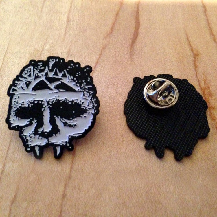 Image of INTEGRITY skull enamel pin