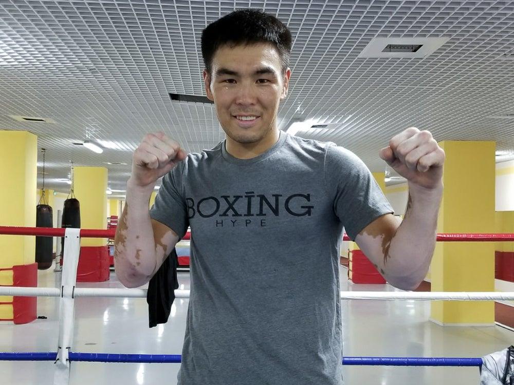 Image of Men's gray BoxingHype logo tees