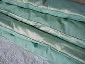 Image of Stunning Single Piped Edge Jade Silk Eiderdown