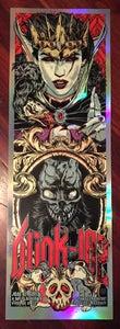 Image of BLINK-182 gigposter - EVIL QUEEN - HOLO FOIL VARIANT