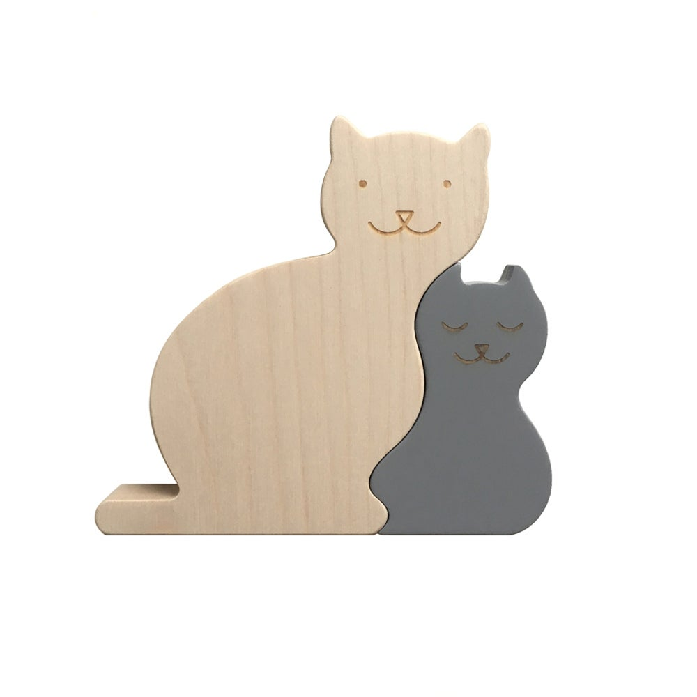 Image of Puzzle Chats gris
