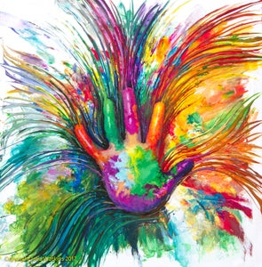 Image of Inner Child Healing Energy Painting - Gicleee Print