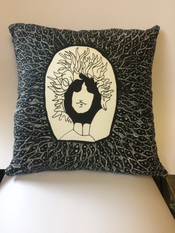 Image of Psychedelic Bob Dylan Cushion