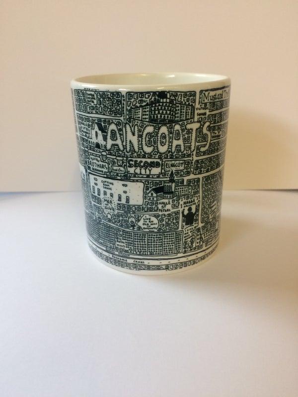 Image of Ancoats Doodle Map Mug