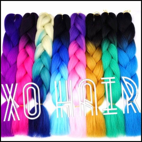 Image of Colorful Ombre Kanekalon Hair