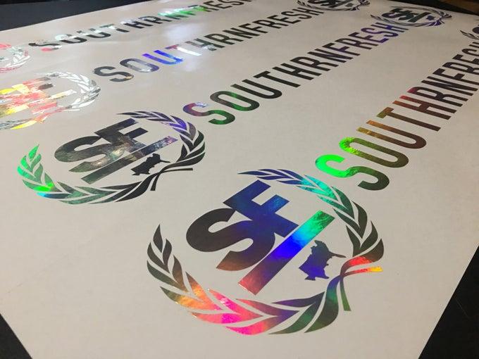 "Image of 28"" Southrnfresh Crest Windshield Banner"