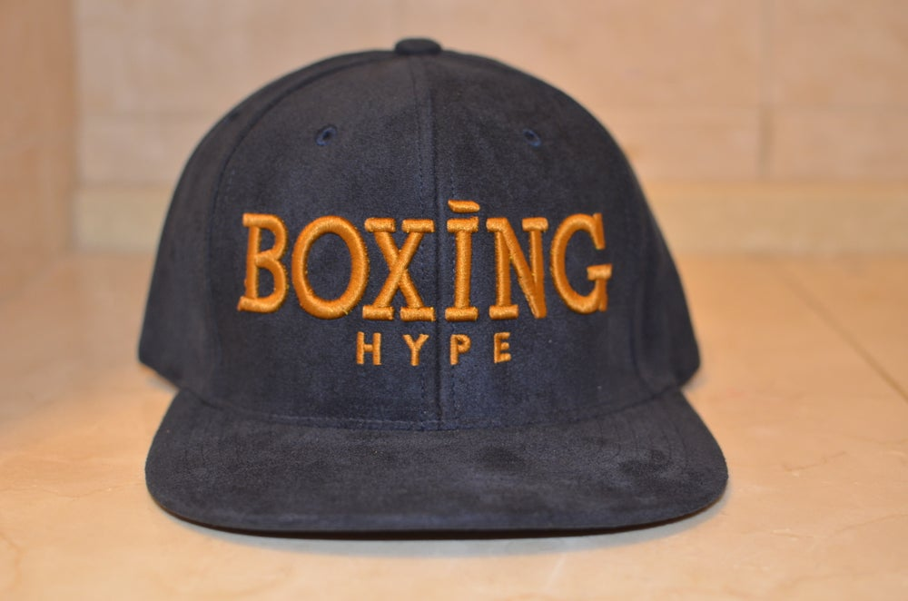 Image of Navy suede Snapback