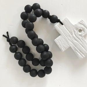 Image of N E W !  Reclaimed Love Bead - White on Black