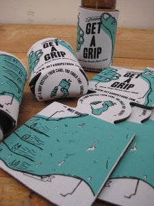 Image of GET A GRIP Koozie can cooler