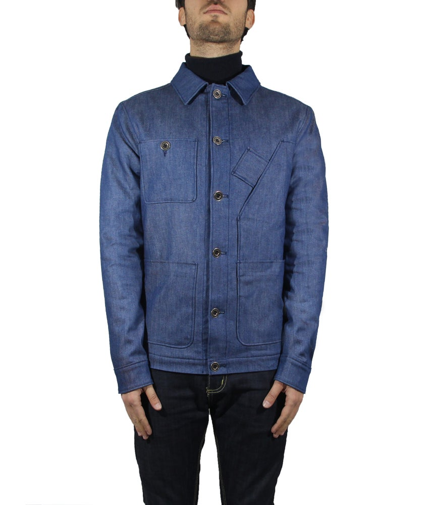 Image of DENIM MULTI POCKETS WORK JACKET R82