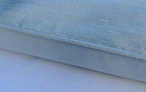 Image of Ice Blue Silk Dupion Eiderdown
