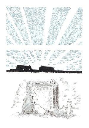 Image of Badger and Vole original artwork