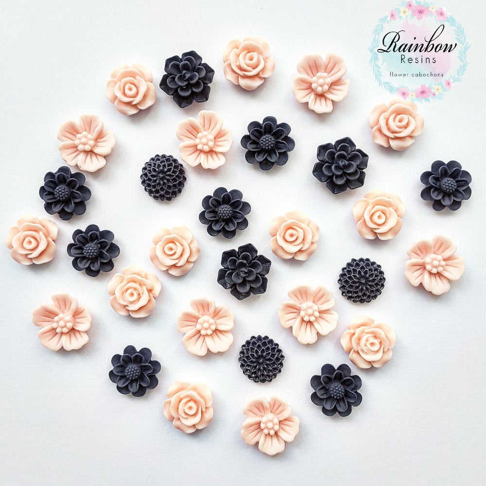 Image of Navy and baby pink sample mix