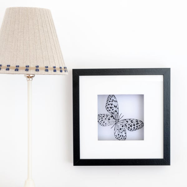 Image of Framed Paper Cut Butterfly