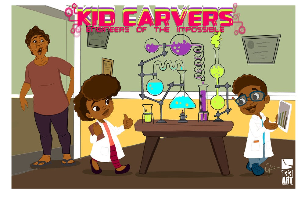 Image of Kid Carvers by J'Aaron Merchant [Poster]