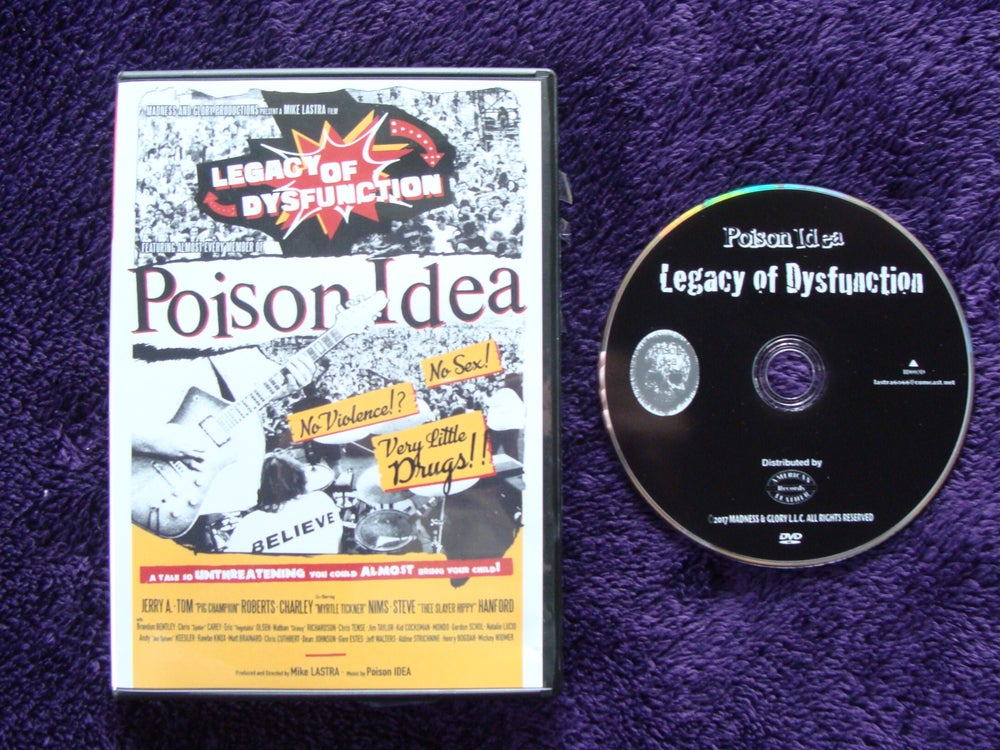"""Image of POISON IDEA """"Legacy of Dysfuction"""" DVD advance orders."""
