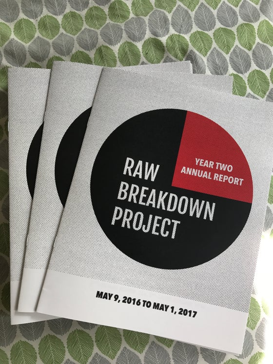 Image of RAW Breakdown Project Annual Report YEAR TWO **PRINTED COPY**