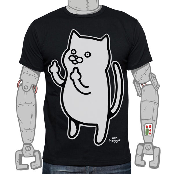 Image of The black sweary cat shirt
