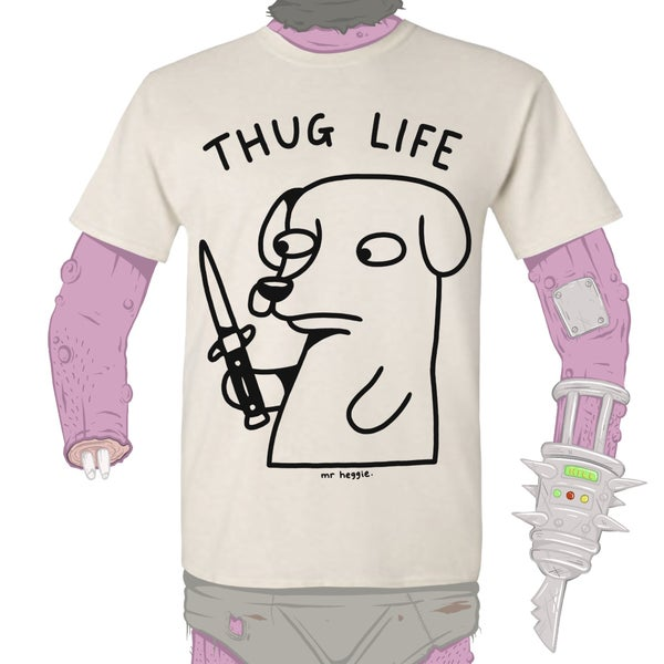 Image of The thug life dog shirt